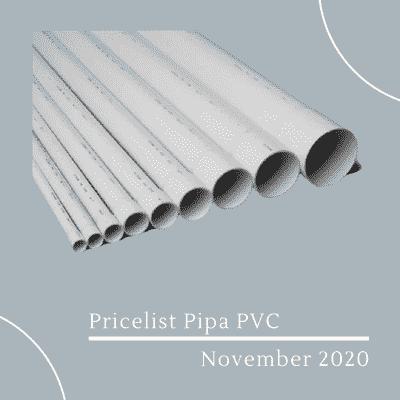 Pricelist Pipa PVC November 2020
